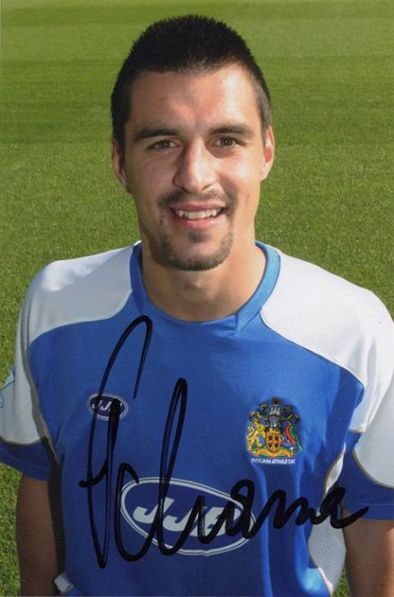 Paul Scharner, Wigan Athletic & Austria, signed 6x4 inch photo.